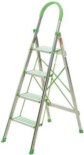 Nai-ladder Escalera de Cuatro escalones de Acero Inoxidable, Escalera de Seguridad contra Incendios al Aire Libre- Almacén de construcción en el emplazamiento Edificio multifunción Escalera Plegable