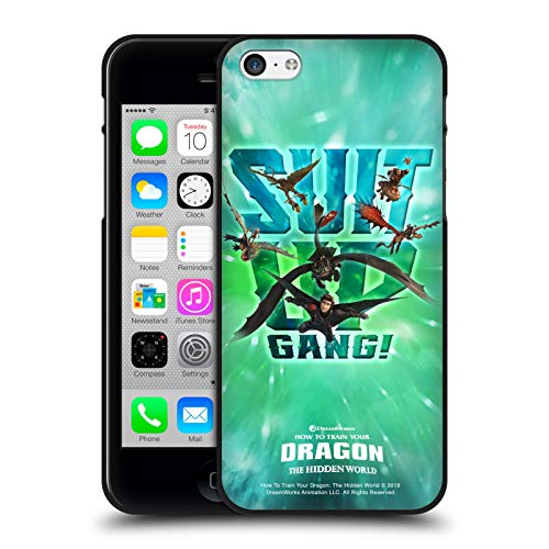 Head Case Designs Ufficiale How To Train Your Dragon Suit Up Gang! III Dragonships Cover Nera in Morbido Gel Compatibile con Apple iPhone 5 / iPhone 5s / iPhone SE 2016