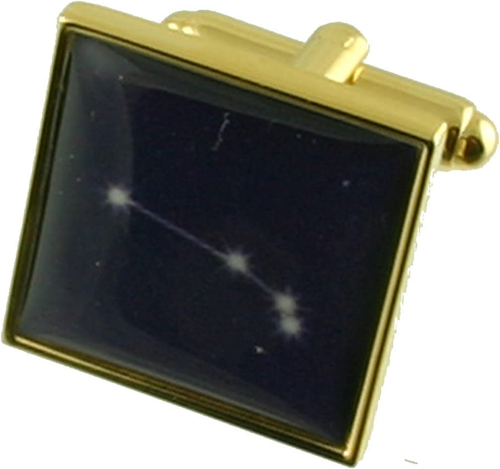Select Gifts Popular shop is the lowest price challenge Aries Gold-tone Star with Cufflinks overseas Birthday Zodiac
