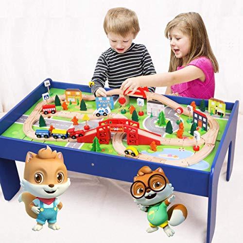 GPWDSN Coches de Juguete Divertidos Vía de Tren de Juguete para niños...