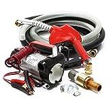 Pompe à Fuel ou Gasoil bio Autoaspirante 12V/150W 40l/min Mobile Pistolet Auto.