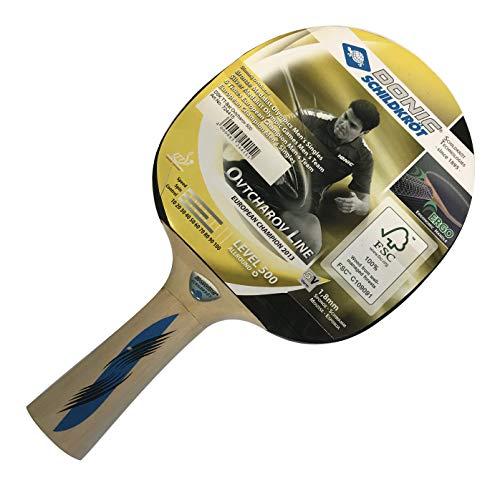 Donic-Schildkröt Ovtcharov 500 Schildkrot Dima 500-Raqueta de Tenis de Mesa (Goma aprobada por la ITTF con Esponja de 1,8 mm), Unisex Adulto