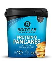 Bodylab24 Protein 6 Pancakes, smaak Sweet Vanilla, 1000g, eiwitrijke pannenkoekenmix voor spieropbouw, Low Carb, Low Fat, High Protein