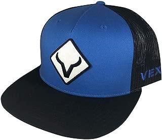 Royal Blue and Black Diamond Adjustable Snapback Hat