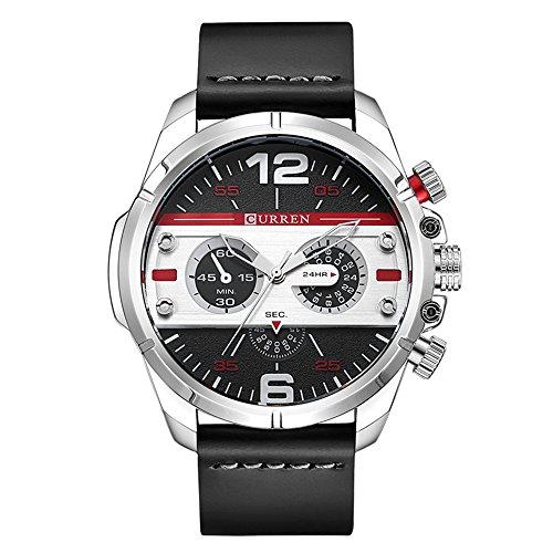 Relógios masculinos, relógios CURREN calendário analógico de quartzo, relógio de pulso para homens, pulseira de aço inoxidável à prova d'água moderna, Azul