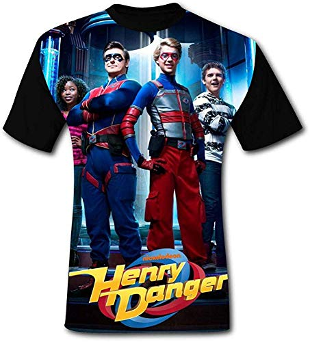 Camisetas Henry Danger para Hombre Camisetas Casuales con Cuello en O de Manga Corta 3D