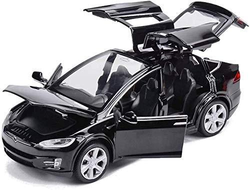Diecast Metal Model Car, interior detallado, regalos de cumpleaños para niños y niñas, 1: 32 Modelo de aleación de sonido de sonido Modelo de auto Coleccionables, 15.5 x 5.5 x 4,5 cm (Color: Negro, Ta