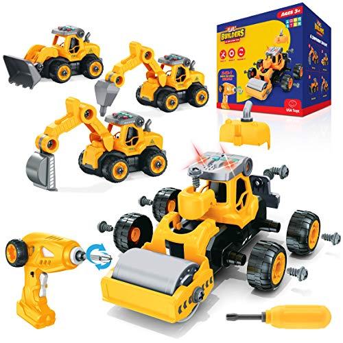TITLE_USA Toys Truck Building Take Apart Toys
