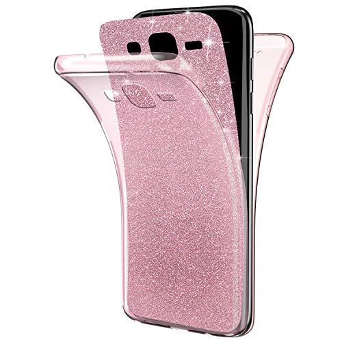 YSIMEE Compatibile Custodia Samsung Galaxy Core Prime G360,Custodie Gel Trasparente Brillantini Glitters Chiaro Puro TPU Silicone Protettivo Morbida Ultra Sottile Gomma Bumper Cover