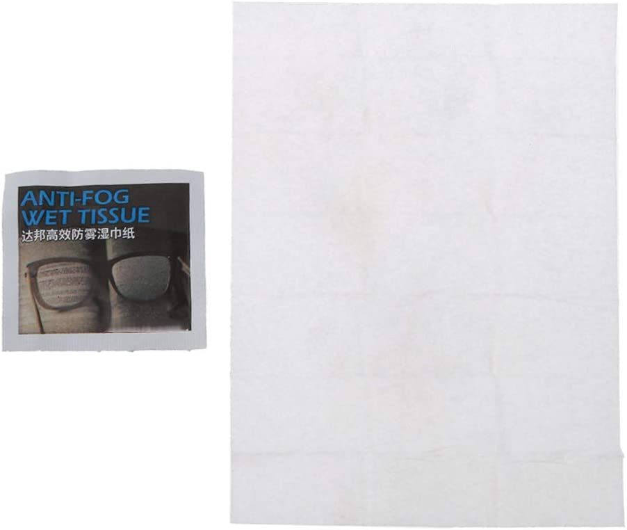 50 St/ück beschlagfrei vorbefeuchtet Einweg-Reinigungst/ücher einzeln verpackt N//A// Anti-Beschlag-T/ücher f/ür Brillen