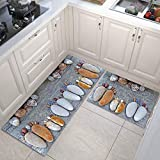 OPLJ Alfombra de Cocina Moderna Alfombra de Dormitorio de baño Alfombra de Entrada para el hogar Alfombras absorbentes para el Piso de la Sala de Estar Moda para niños A8 40x120cm