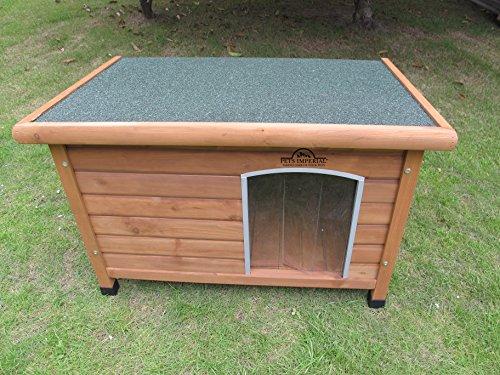 Größe Medium, isolierte Norfolk Hundehütte aus Holz mit entfernbarem Boden zur einfachen Reinigung A - 2