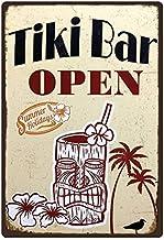 generisch Plaque en m/étal 20 x 30 cm Tiki Bar Open Summer Holidays Cocktail Music