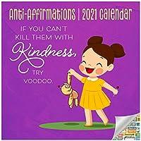 アンチアファーメーションカレンダー2021バンドル – デラックス2021皮肉壁カレンダー 100枚以上のカレンダーステッカー付き (予告防止ギフト オフィス用品)