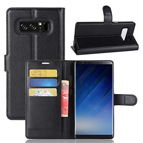 betterfon | Buch Tasche Hülle Etui Book Hülle Cover Schutz Hülle Handy Tasche für Samsung Galaxy Note 8 SM-N950 Schwarz