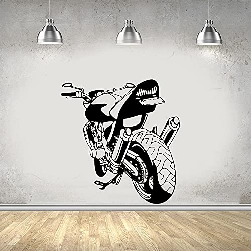 Motocicleta locomotora pegatinas de pared garaje niño habitación calcomanías off-road racing coche deportivo pegatinas de coche pegatinas murales A6 56X56CM