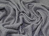 Minerva Crafts Italienischer Teddystoff, Grau, Meterware