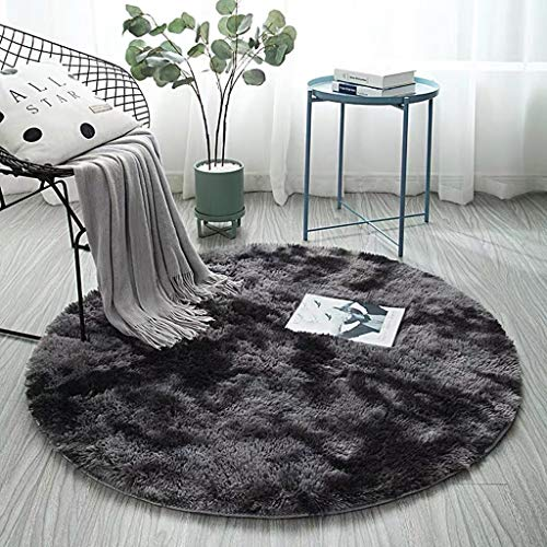 Euone_Home Shag Area Rug, Ultra Soft Fluffy Shaggy Modern Rugs Round Cotton Plush Carpet Decor for Living Rooms, Bedrooms, Dining Rooms