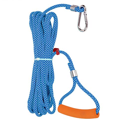Wear Resistant Camping Cord, Orange or Blue High Strength Tent Rope, No Fading Daily Furniture for Home(Blue and white point 6MM, 10M)
