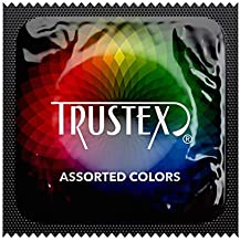 Trustex Color Sensations Lubricated Latex Condoms with Pocket/Travel Case-24 Count (Silver Case)
