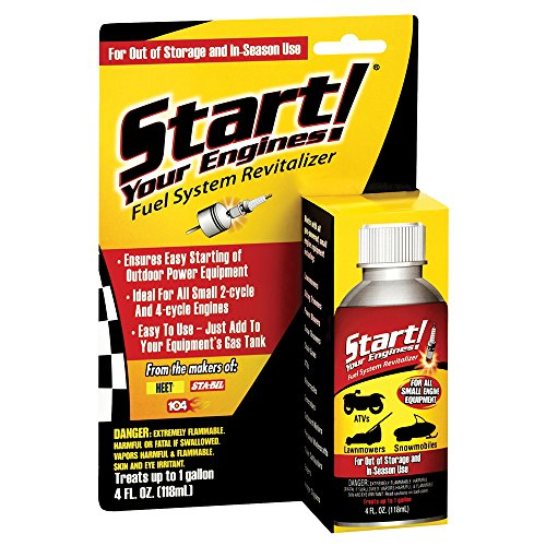 Start Your Engines! Fuel System Revitalizer and Starter Fluid for 2 and 4 Cycle Small Engines, 4 Fl. oz.