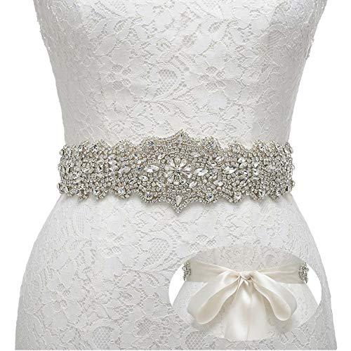 Remedios Rhinestone Bridal Belt Crystal Wedding Belt Bridesmaid Sash Women Dress Accessories, Black