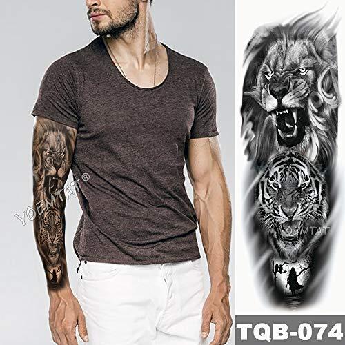Gran Brazo Manga Tatuaje Familia Tiempo Impermeable Tatuaje ...