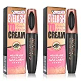 4D Silk Fiber Eyelash Mascara, (2 Packs) Extra Long Lash Mascara, Natural Thick Waterproof Thickening and Lengthening Mascara, Long Lasting Charming Eye Makeup (2 Pack)