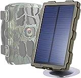 WEIFLY Cámara de Caza Panel Solar Trail Game Camera,con Soporte IP56 a Prueba de Agua, DC 6V / 1500mAh para cámaras de Caza (no se requieren baterías para su cámara de Seguimiento)