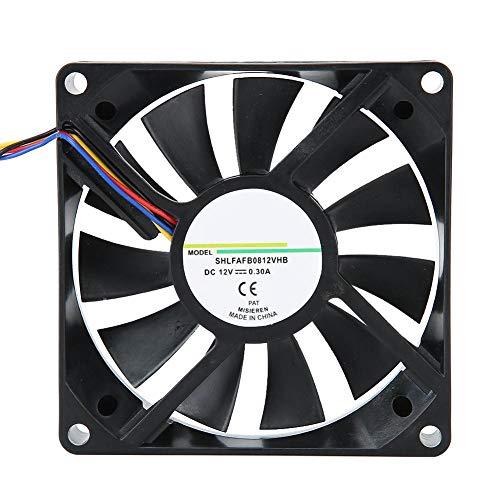 Ventilador de enfriamiento, ventilador de disipador de calor de 12V 0.3A y 8 cm, sistema de enfriador de ventilador de caja estándar de 4 pines, enfriador duradero de bajo ruido, para fuente de alimen