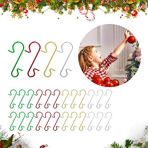 Sunshine smile 120pcs S-Haken Weihnachten,30 mmklein Haken weihnachtskugeln,s-Haken,Christbaumschmuck aufhänger,Weihnachtskugel Weihnachtsschmuck,Deko Weihnachten Haken,Weihnachtsbaum Haken(Mischen)