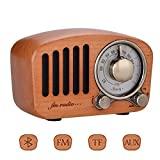 Qoosea Retro Radio Portable Radio FM Radio with Bluetooth Speaker...