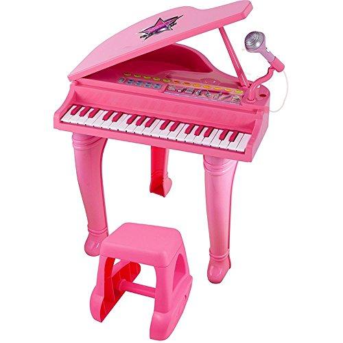 winfun Kinderpiano Piano Kinder Klavier Keyboard Spielzeug Flügel (rosa)