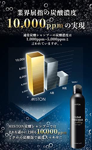 MISTON炭酸シャンプークリアプレシャススカルプフォームメンズ大容量モデル320g