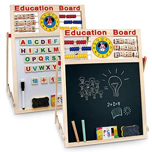 Cube speelgoed houten speelgoed, Whiteboard schildersezel Learning Math Handvaardigheid Numbers tellen van kralen Classic Abacus Toy educatief speelgoed (Kleur: Multi-gekleurde, Grootte: vrij formaat)