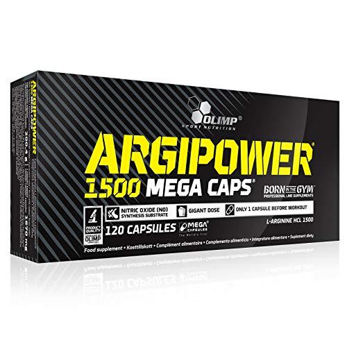 ARGIPOWER 120 Cápsulas | Óxido nítrico incondicional | Suplemento alimenticio pre-entrenamiento | Gran dosis de L-arginina