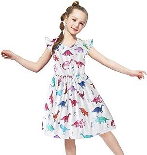 فستان Yoriko للفتيات من القطن بأكمام قصيرة للأطفال الصغار غير رسمي