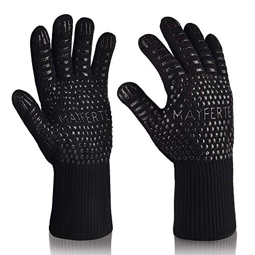 AwesomeWare BBQ Cooking Glove 932°F Extreme Heat Resistant Oven Gloves for Cooking, Grilling, Baking