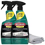 Weiman Disinfectant Granite Daily Clean & Shine (2 Pack with Polishing Cloth) Safely Clean Disinfect and Shine Granite Marble Soapstone Quartz Quartzite Slate Limestone Corian Laminate Tile Countertop