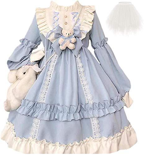 * ZTBANG® Lolita Princess Dress Kawaii Long Sleeves Sweet Girl Chiffon Fancy Dress 2021