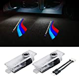 Shenghao 2pcs Car Door Lights Projector, LED Logo Door Light Welcome Door Light Projector Compatible with BMW /3/4/5/6/7/Z/GT Series Emblems Ghost Shadow Laser Projector Light