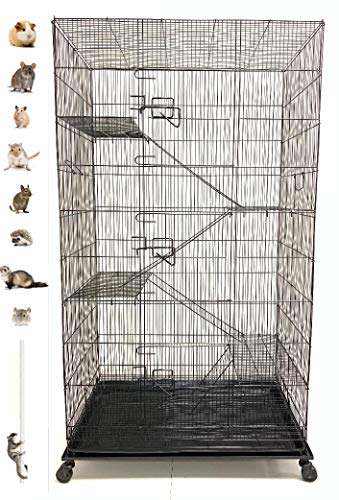 Extra Large 5 Levels Guinea Pig Hamster Rodent Degu Dagus Ferret Chinchilla Sugar Glider Squirrel Rat Mice Rabbit Cat Critter Cage
