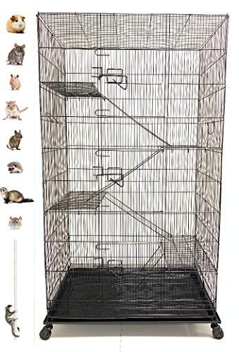 Extra Large 5 Levels Guinea Pig Hamster Rodent Degu Dagus Ferret Chinchilla Sugar Glider Squirrel Rat Mice Rabbit Cat Critter Cage
