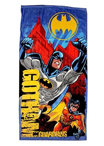 Producto oficial. Toalla de playa con diseño de Batman, de DC Comics. 70x140 cm. 100% algodón.