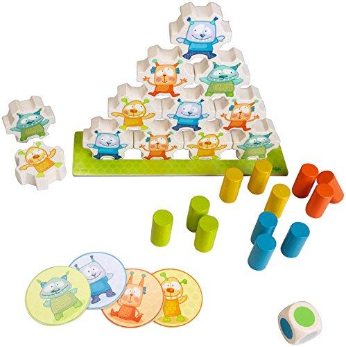 HABA 301200 - Jeu d'Empilement Mini Monstre pour les enfants de 2 ans et plus (fabriqué en Allemagne)