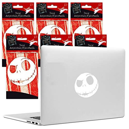 Disney Nightmare Before Christmas Sticker Decal Bundle - 6 Premium Nightmare Before Christmas Jack Skellington Decals with Nightmare Before Christmas Bookmark Room Decor