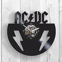 Vinyl Clock, AC DC, Wall Decor, Band, Vintage Vinyl Record, Rock Music, Back in Black, Highway to Hell, Wall Art, Home Decor, Handmade Gift, Modern Art, Gift Ideas For Fans, Bon Scott