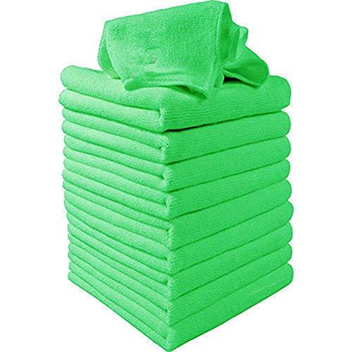 10 unids gran microfibra limpieza auto auto detalles paños suaves lavado plumero toalla calidad estable
