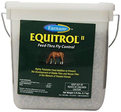 Farnam Equitrol II Feed-Thru Fly Control for Horses, 3.75-Pound