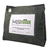 MOSO NATURAL: The Original Air Purifying Bag. 600g Stand Up Design. For Kitchen, Basement, Family Room. An Unscented, Chemical-Free Odor Eliminator (Charcoal)